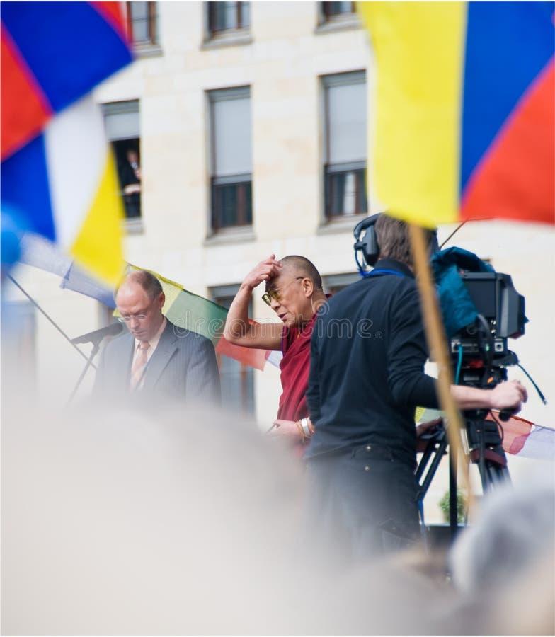 Dalai lama in Berlin stock image