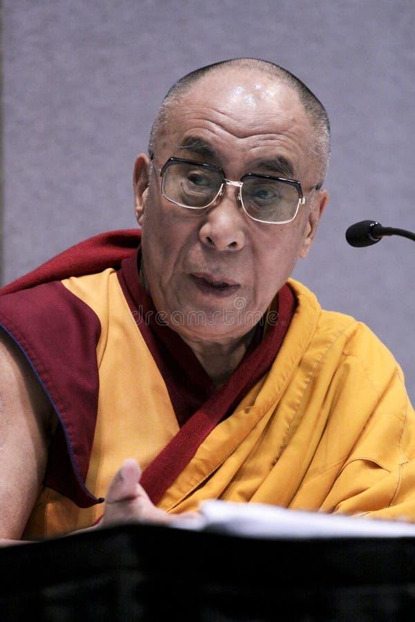 Dalai Lama em San Jose California fotografia de stock royalty free