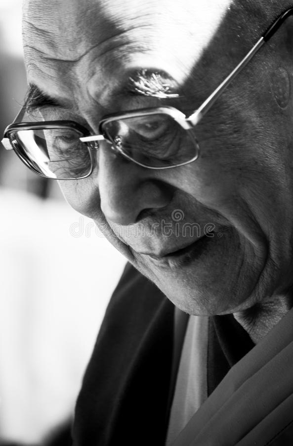 The Dalai Lama. His Holiness Dalai Lama saying his speech royalty free stock images