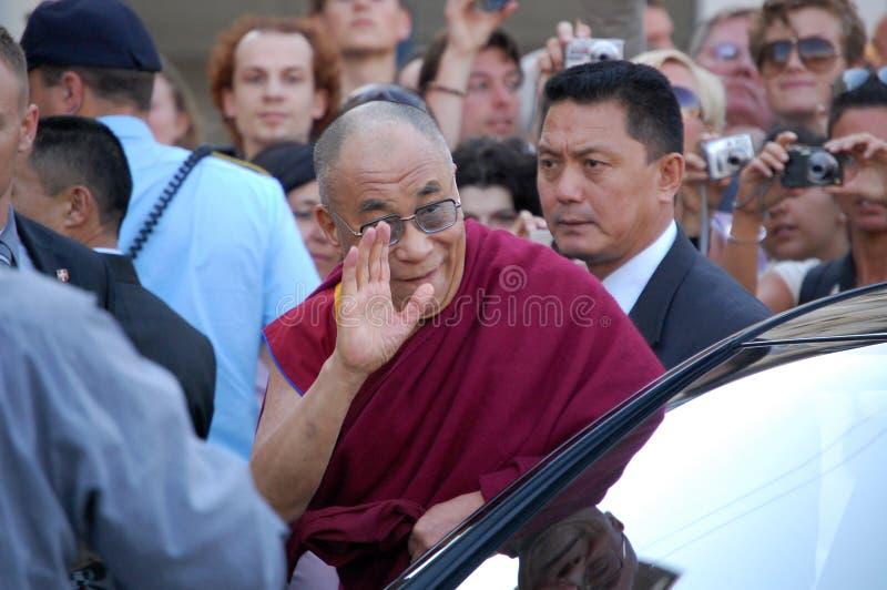 Dalai Lama in Kopenhagen lizenzfreies stockbild