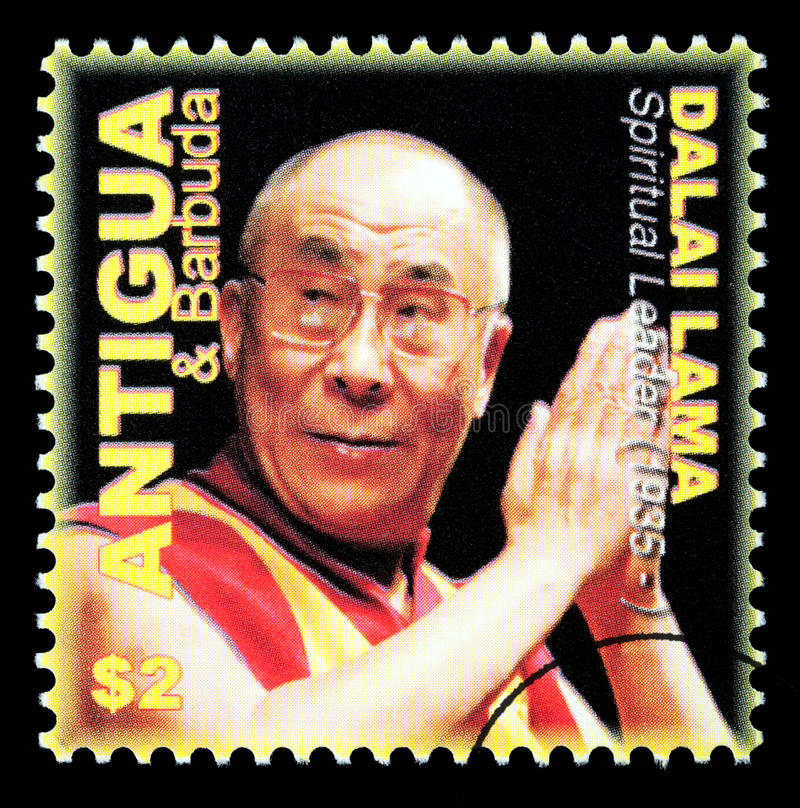Dalai Lama Postage Stamp illustration de vecteur