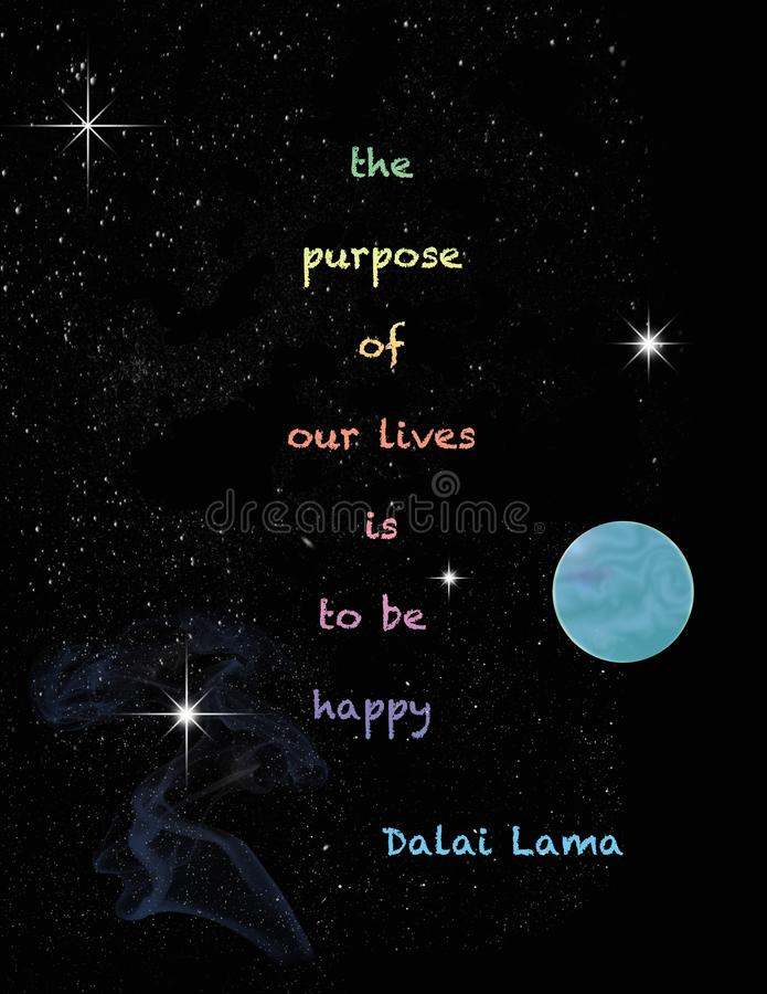 Dalai Lama on Purpose royalty free illustration