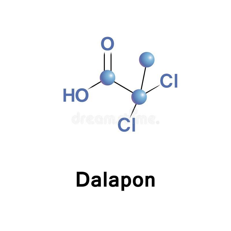 Dalapon is een selectief herbicide vector illustratie