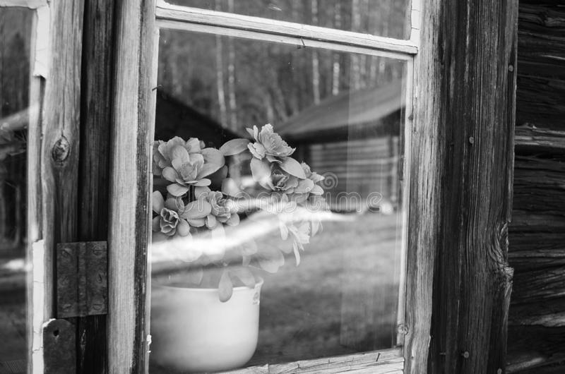 Dalarna rural noir et blanc photos libres de droits