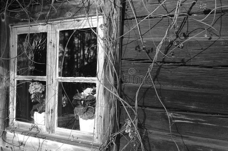 Dalarna rural noir et blanc image libre de droits