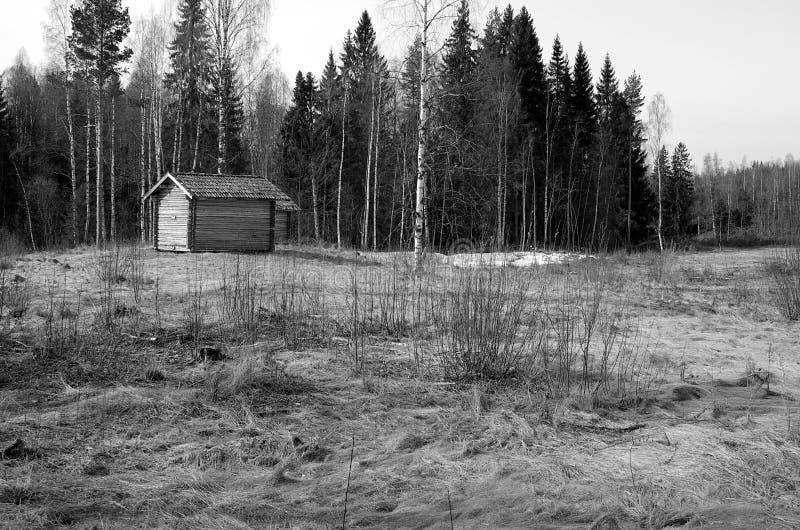 Dalarna rural noir et blanc photo libre de droits