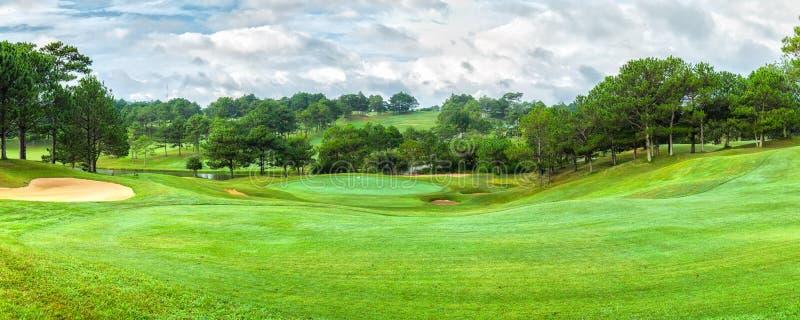 Dalat golf panorama sunny day royalty free stock photo