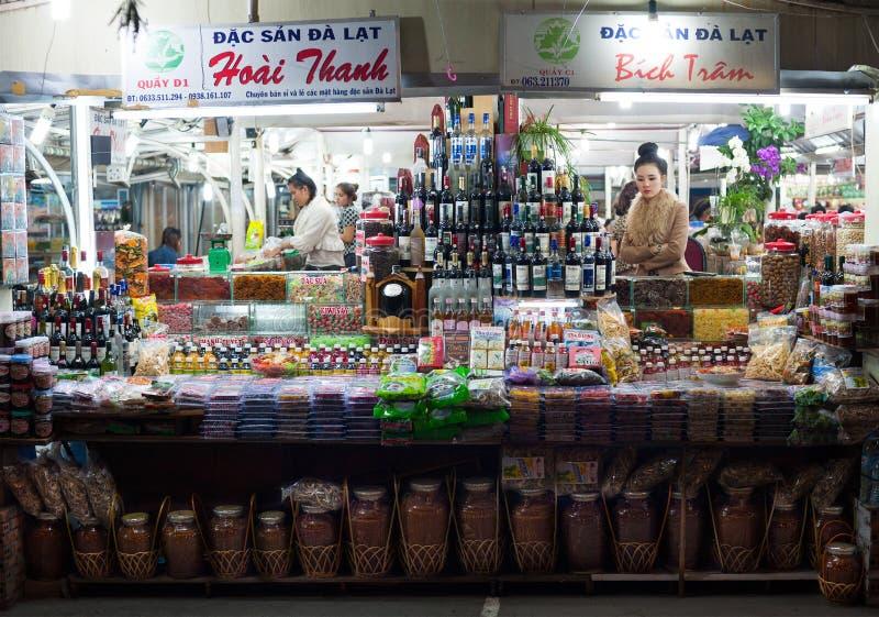 Dalat night market, Vietnam stock image