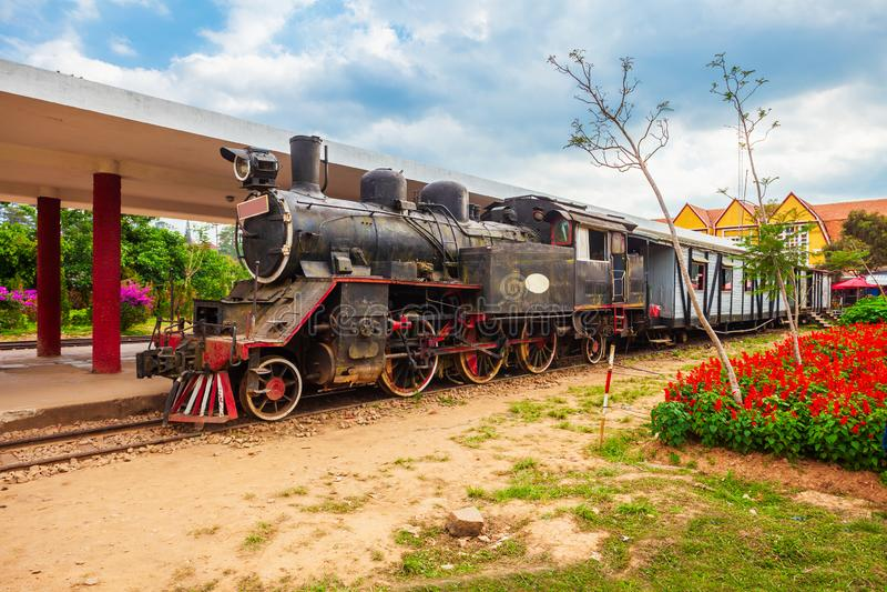 Dalat stacja kolejowa w Wietnam zdjęcia royalty free