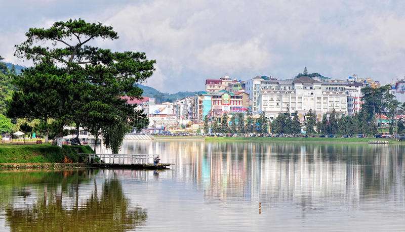 Dalat stad, Vietnam royaltyfri foto