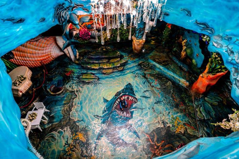 Dalat, Vietnam 23 janvier 2019 Dépendance de Hang Nga, Chambre folle, dans Dalat, le Vietnam photo stock