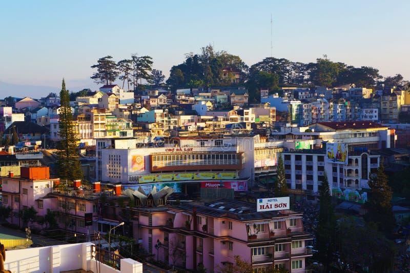 Dalatstad, Vietnam stock afbeelding