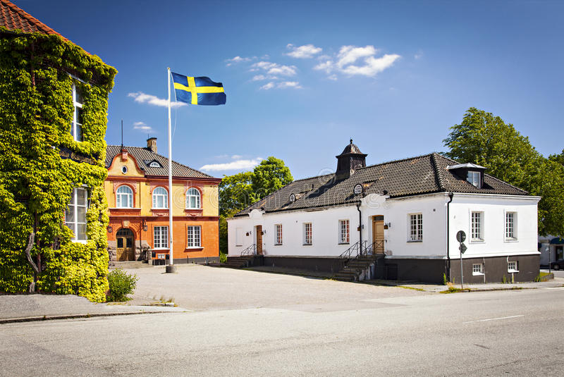 Dalby Sweden. Image of some historic buildings in Dalby, Sweden royalty free stock photos
