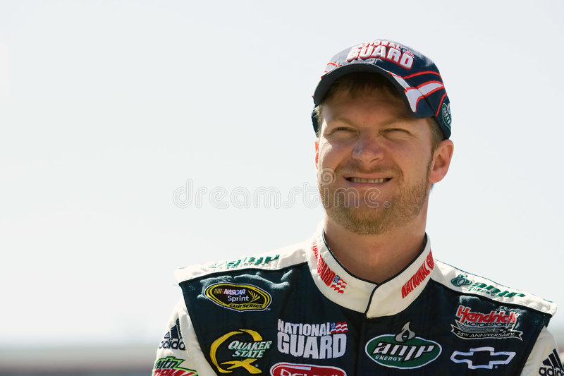 Dale Earnhardt, Jr Sprint Cup Series Food City 500. 20 March 2009 NASCAR Food City 500 Bristol, TN - Dale Earnhardt Jr. is all smiles in the garage at Bristol stock photo