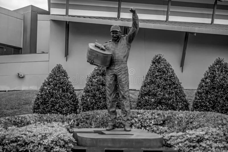 Dale Earnhardt statue at Daytona International Speedway. Datytona, Florida. July 19, 2019. Dale Earnhardt statue at Daytona International Speedway royalty free stock images
