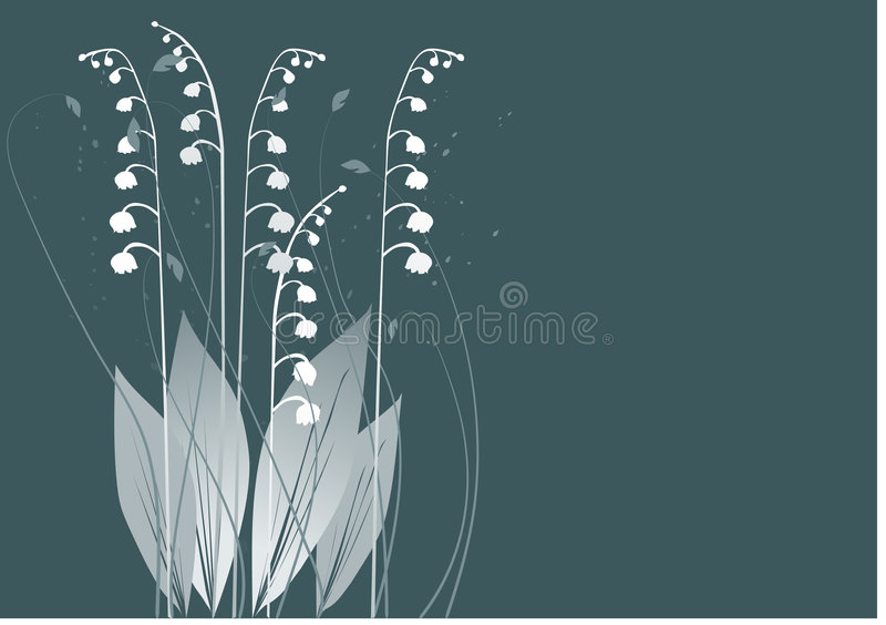 dale lily ilustracja wektor