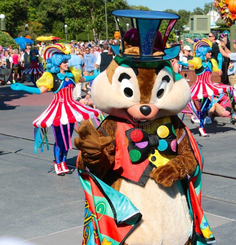 Dale in a street parade at Disneyworld stock photos