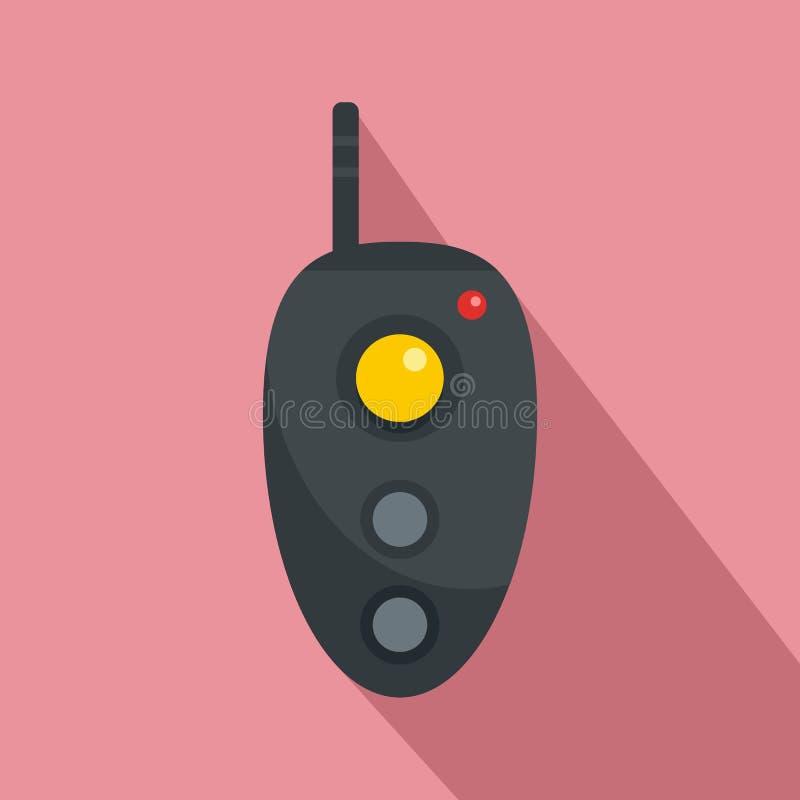 Daleka kontroler ikona, mieszkanie styl royalty ilustracja