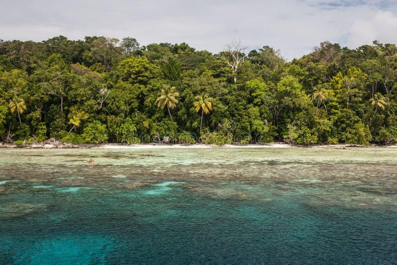 Daleka wyspa w Melanesia zdjęcie stock