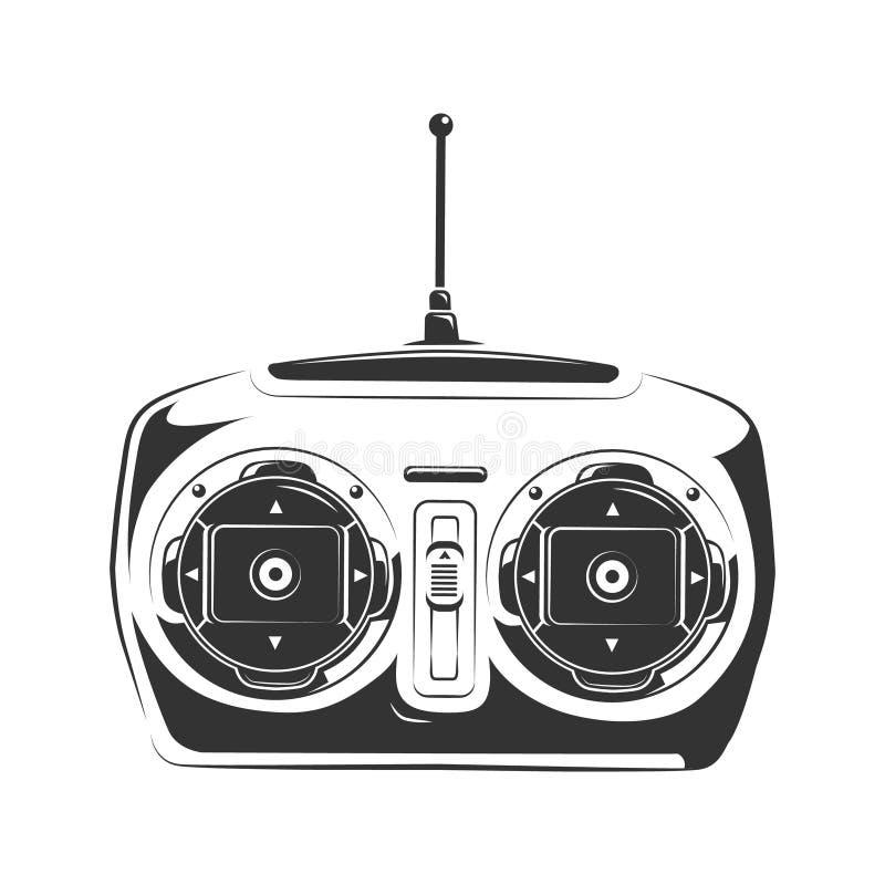 Daleki kontroler kontrolować samolot, samochód lub quadcopter, ilustracja wektor