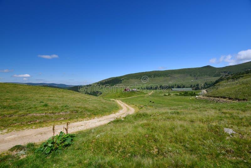 Daleki rancho w Rodnei górach na plateau obrazy stock
