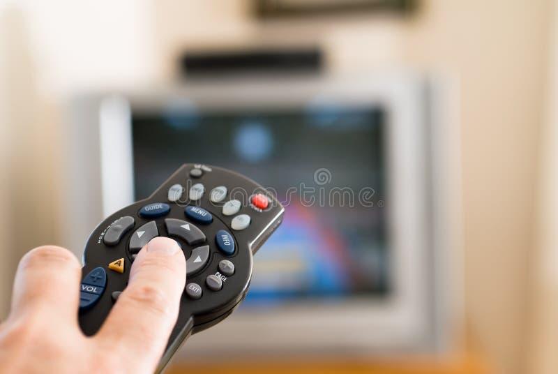 daleko kontrolna telewizja fotografia stock