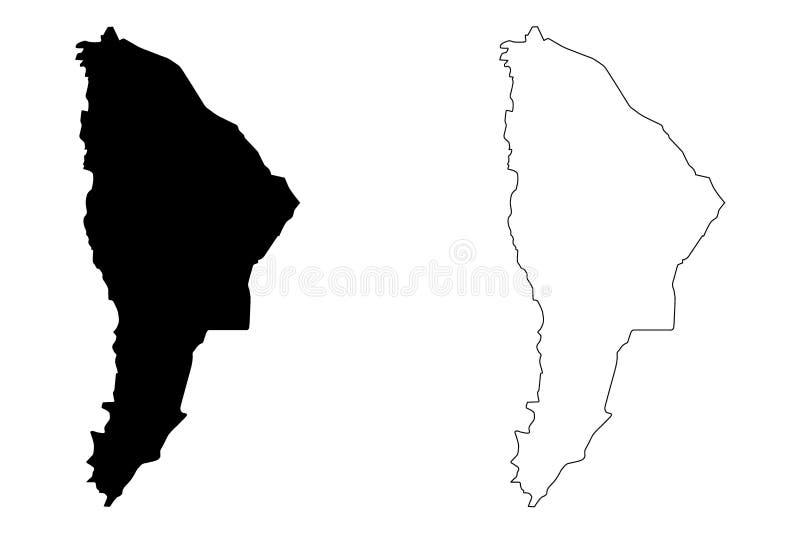 Daleko region mapy wektor ilustracji