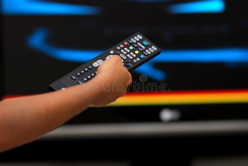 daleko televison kontrolny obraz stock