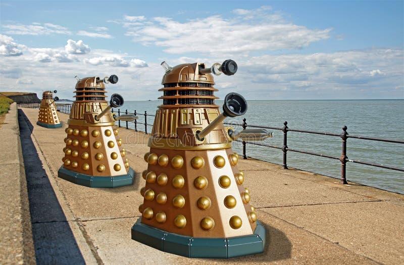 Daleks侵略行星地球 库存图片