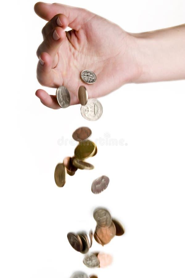 Dalend Geld stock afbeelding