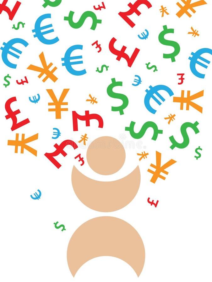 Dalend geld vector illustratie