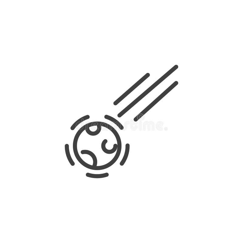 Dalend stervormig lijnpictogram stock illustratie
