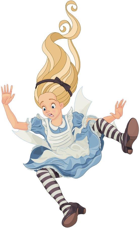 Dalende Alice vector illustratie