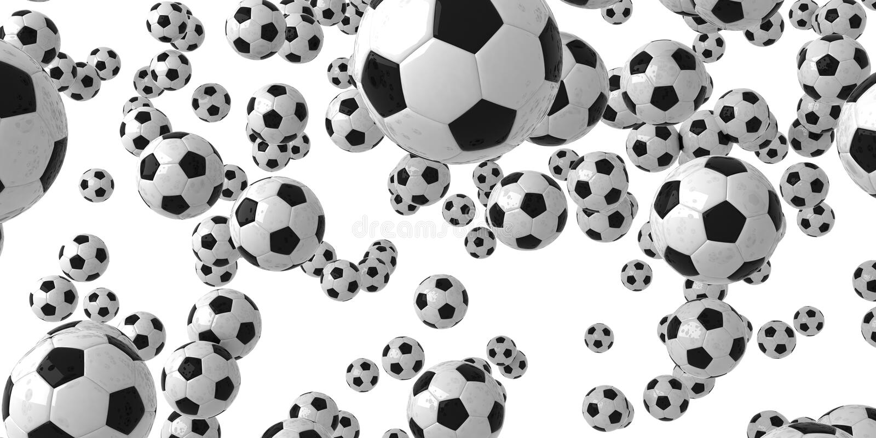 Dalende ballen stock illustratie