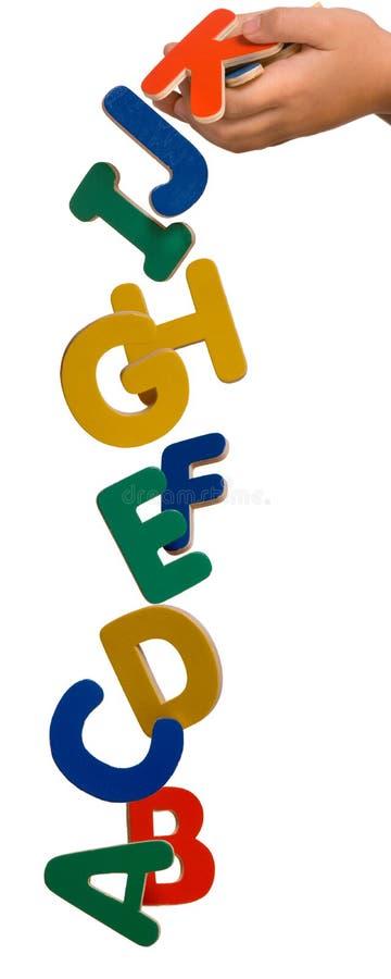Dalende brieven royalty-vrije stock foto