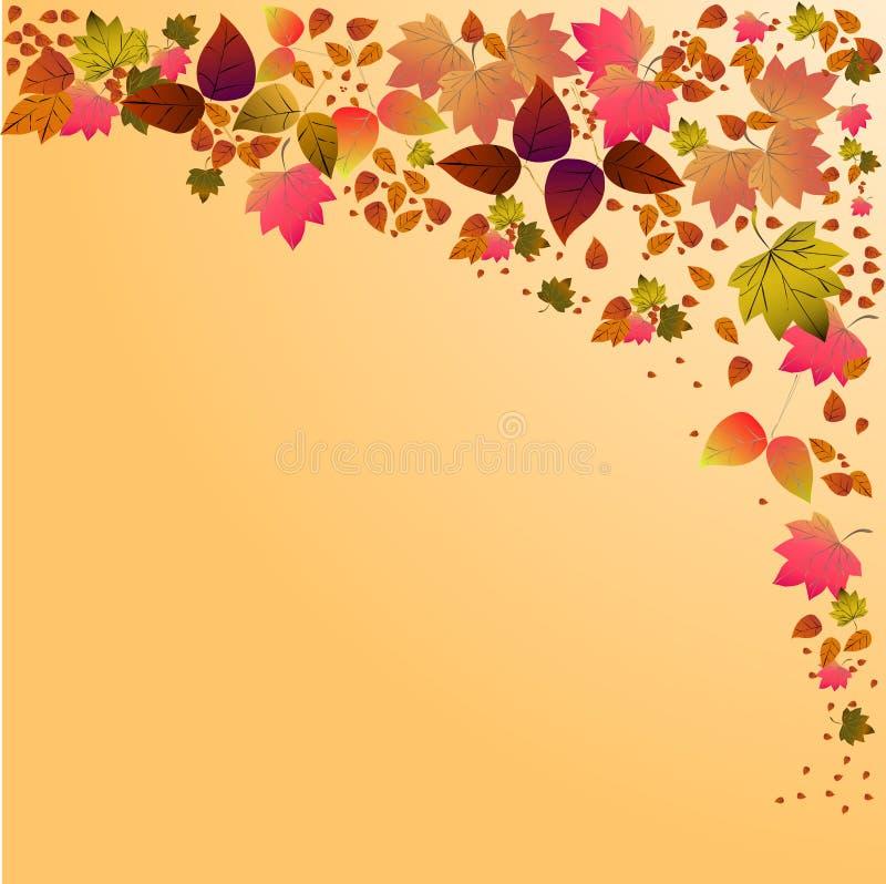 Dalende de bladerenachtergrond van de herfst Omvat EPS 10 vector royalty-vrije stock foto