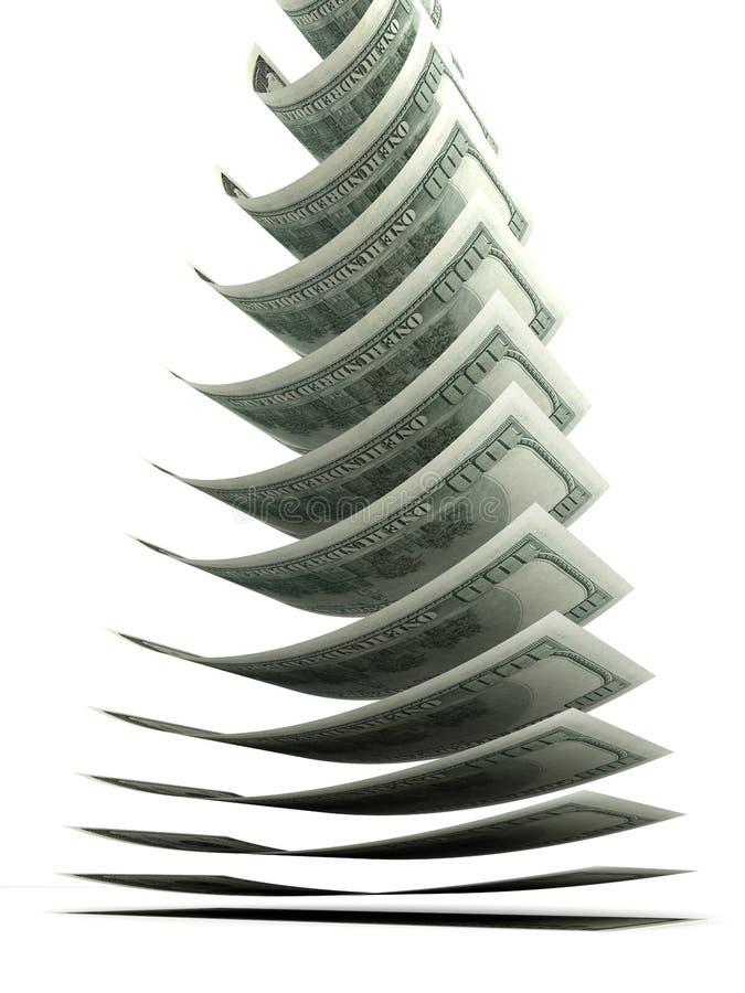 Dalende Dollar Stock Afbeelding