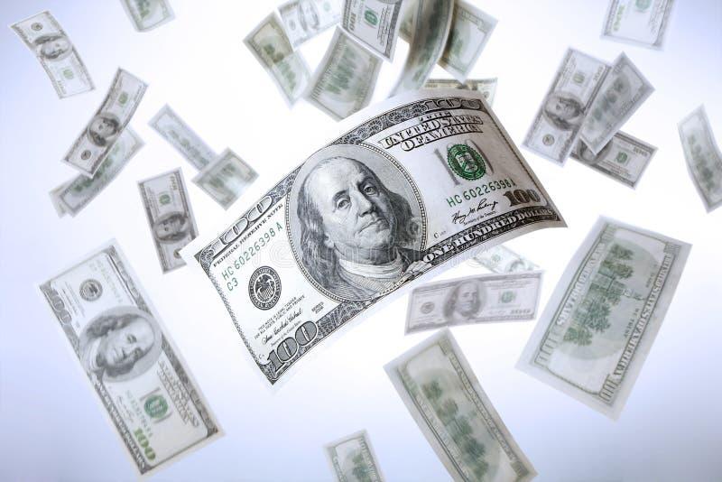 Dalende Dollars stock afbeelding