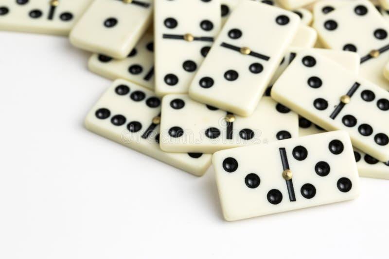 Dalende Domino's Het dominospel royalty-vrije stock foto