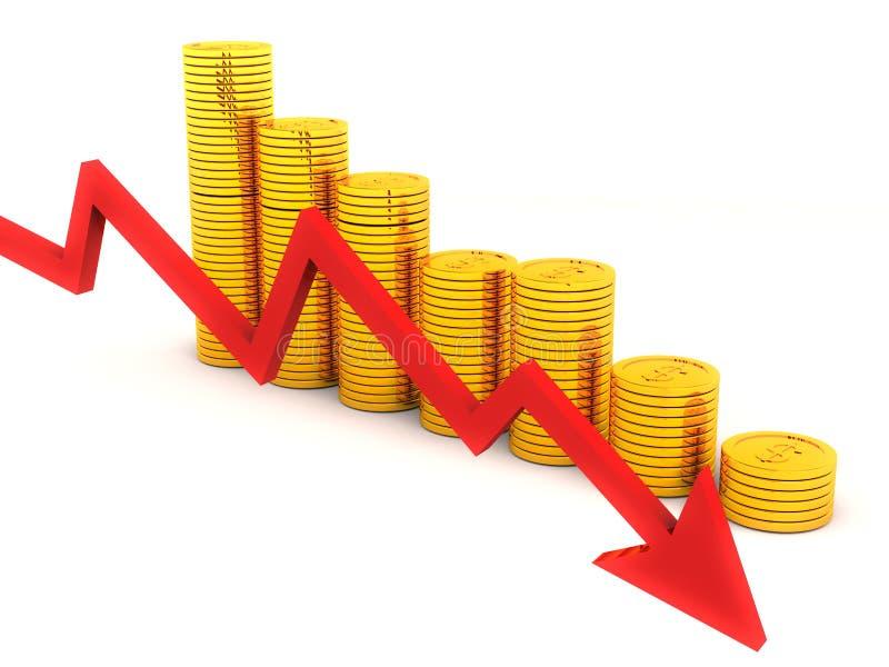 Dalende gouden prijzen vector illustratie