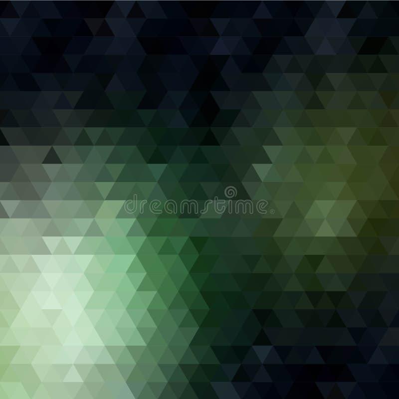 Dalende kleurendriehoeken abstracte vectorillustratie - Vektorgrafik Eps 10 royalty-vrije illustratie