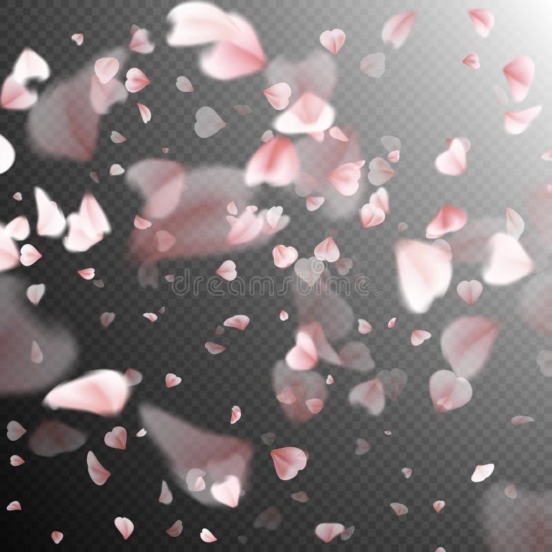 Dalende sakurabloemblaadjes Eps 10 stock illustratie