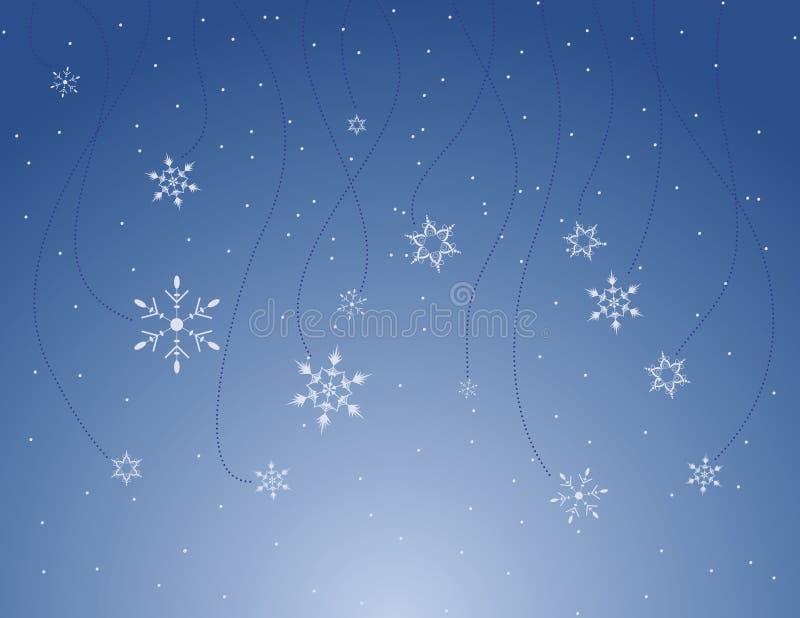 Dalende Sneeuwvlokken royalty-vrije illustratie