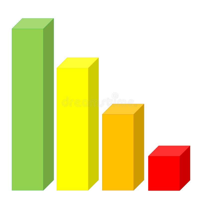 Dalende statistieken royalty-vrije illustratie