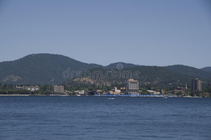 DAlene Idaho de Coeur do lago perto de Spokane Washington imagens de stock royalty free