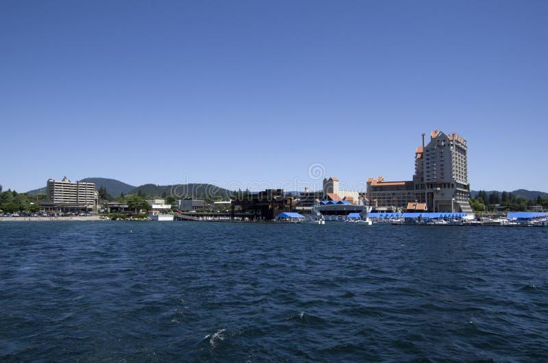 DAlene Idaho de Coeur do lago perto de Spokane Washington foto de stock