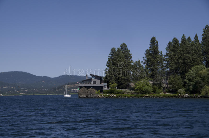 DAlene Idaho di Coeur del lago vicino a Spokane Washington fotografie stock