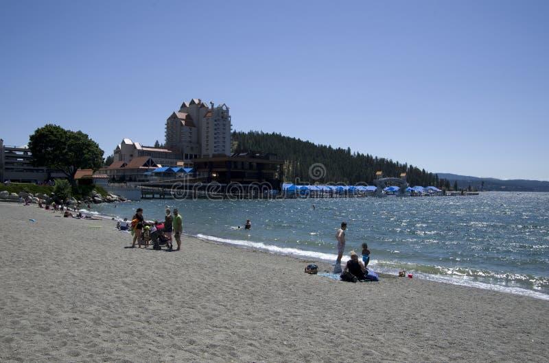 DAlene Idaho di Coeur del lago vicino a Spokane Washington fotografia stock libera da diritti