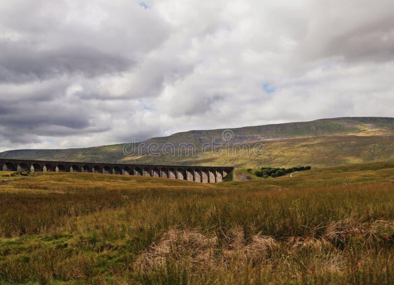 Dales & aqueduto de Yorkshire fotografia de stock