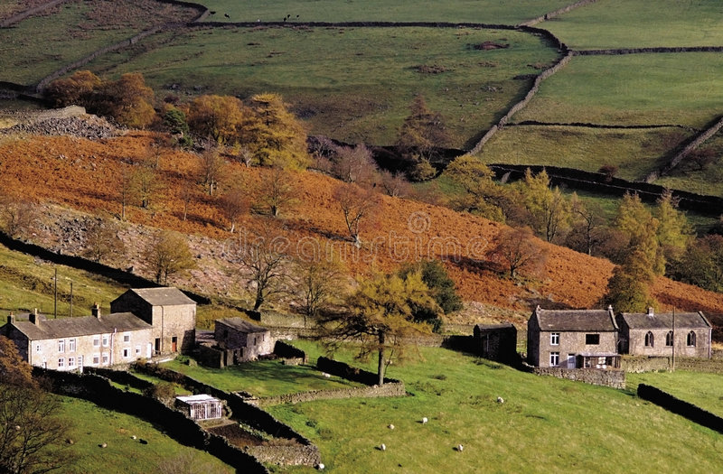 Dales de Yorkshire imagem de stock